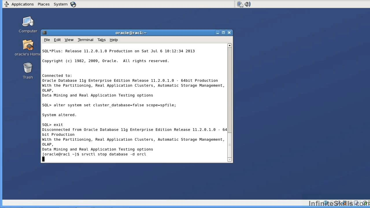 learning oracle 11g real application clusters training video