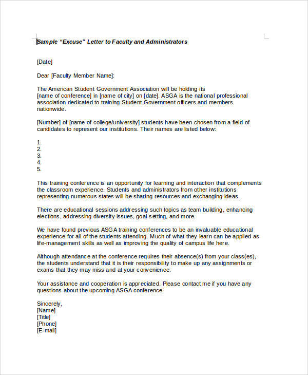 write application for absent in school