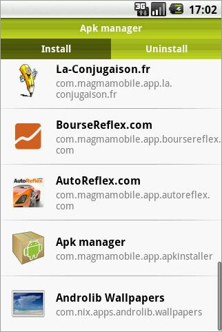 where is application manager android