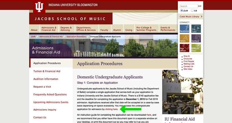 jacobs school of music application
