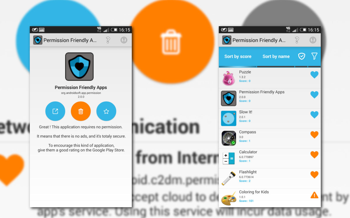 gerer les permissions des applications android