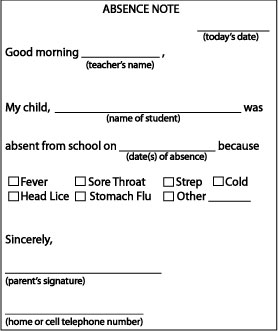 sick leave application for school teacher