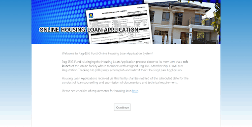pag ibig housing loan online application