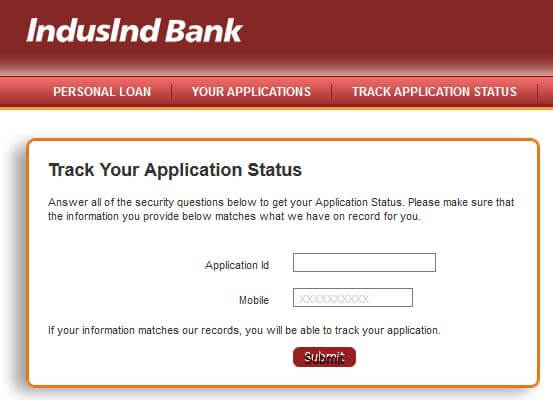 application for loan from bank