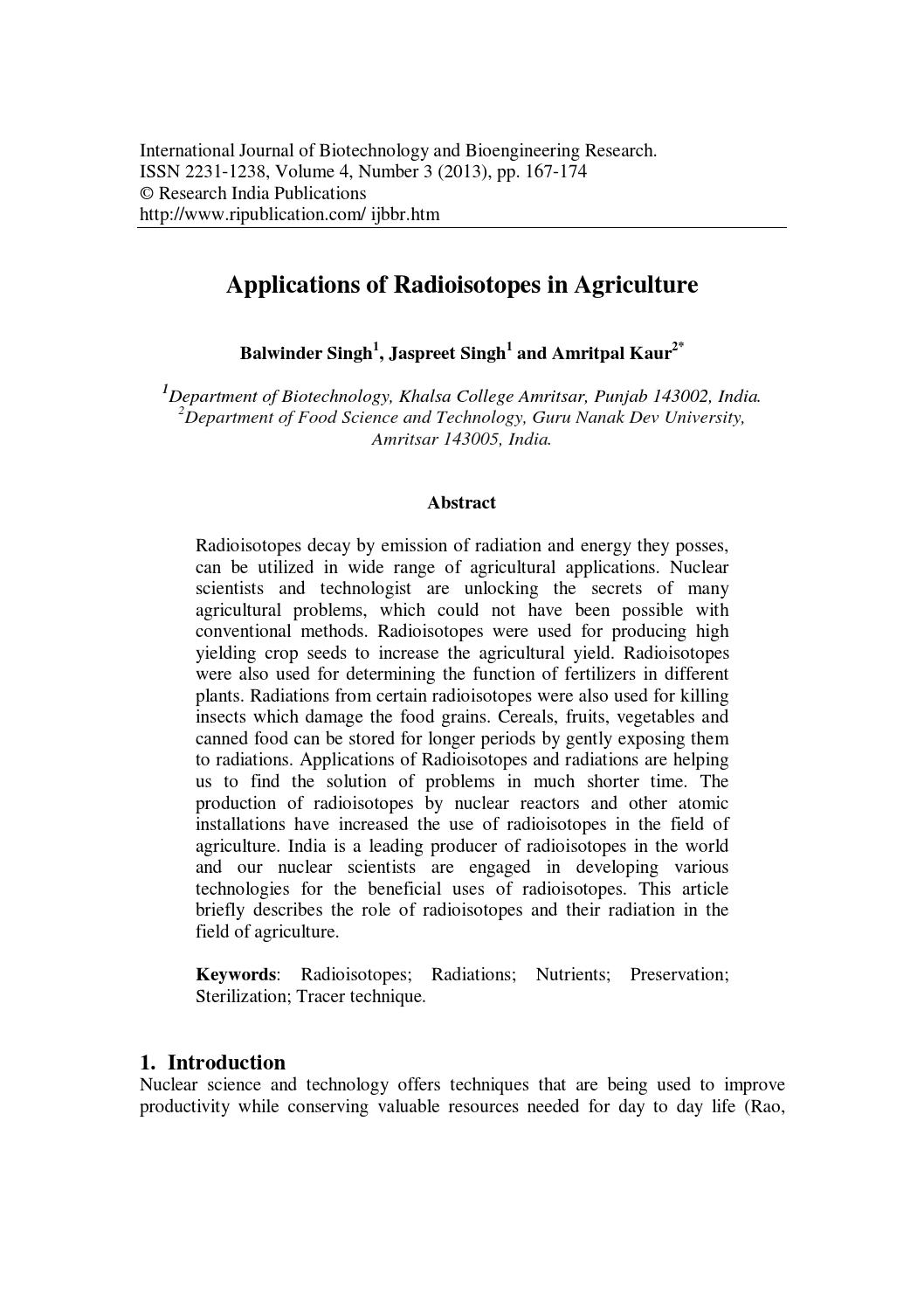 application of biotechnology in agriculture