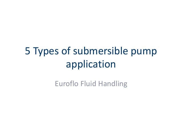 types of pumps and their applications