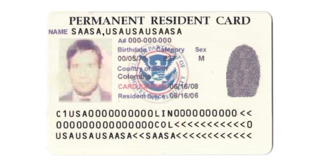 us permanent resident card application