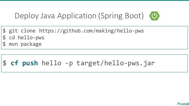 deploy java application cloud foundry