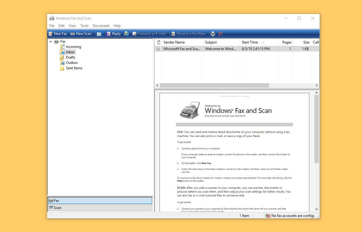 fax application for windows 10