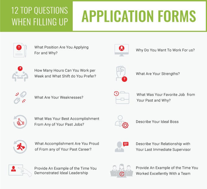 filling out job application forms