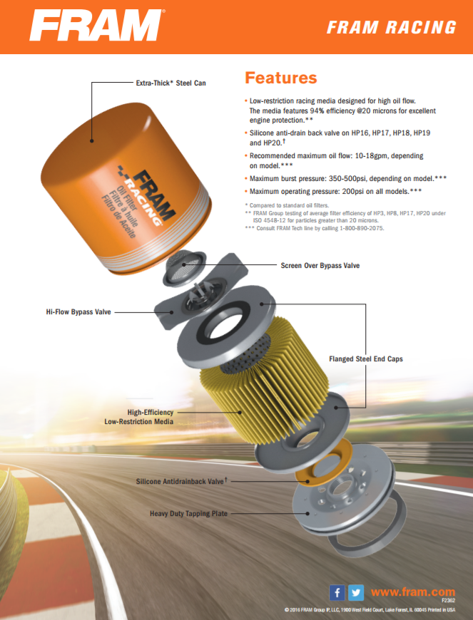 fram oil filter application guide pdf