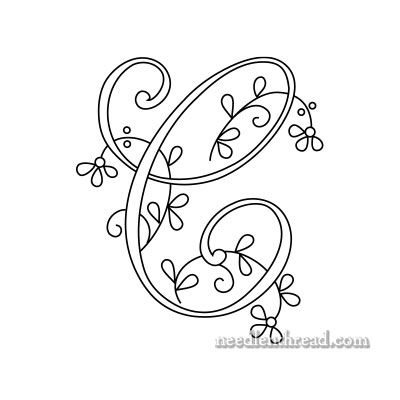 how to applique letters by hand