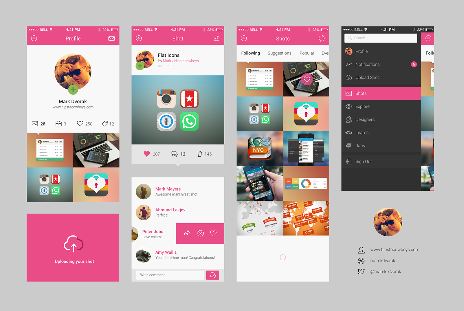mobile application design template psd free download