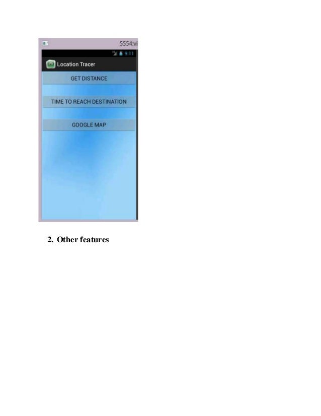 project report on android application